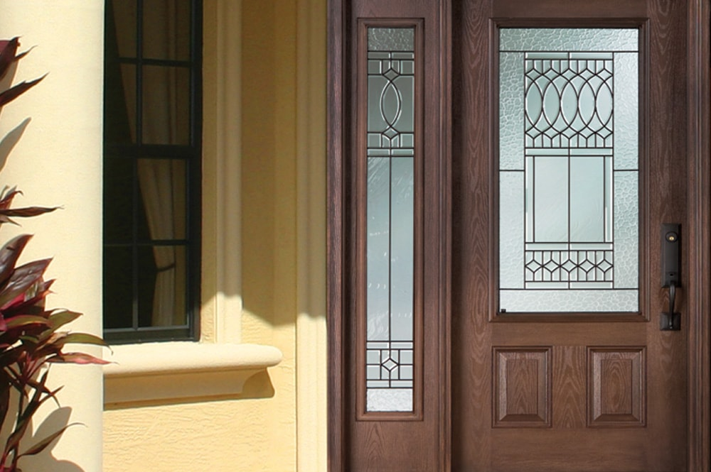 fiberglass stained doors with door lasercut tall inserts contemporary posts portfolio double