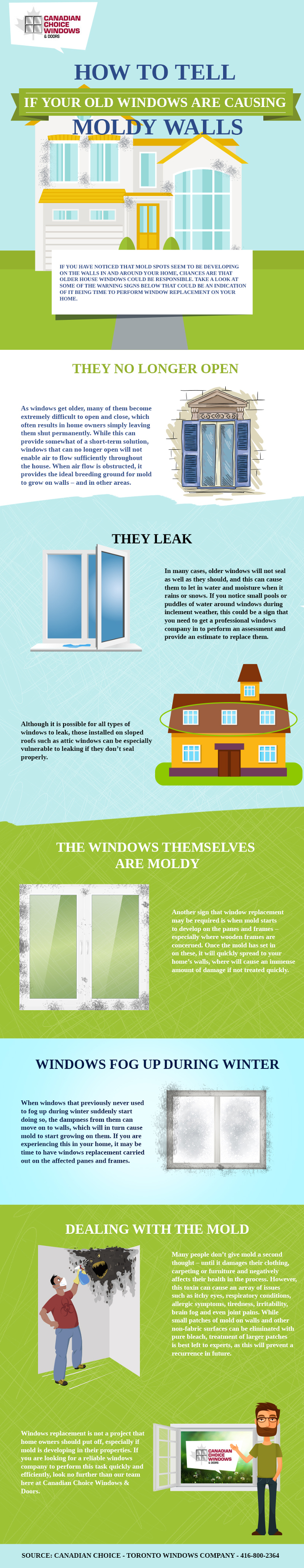 How to Tell if Your Old Windows are Causing Moldy Walls