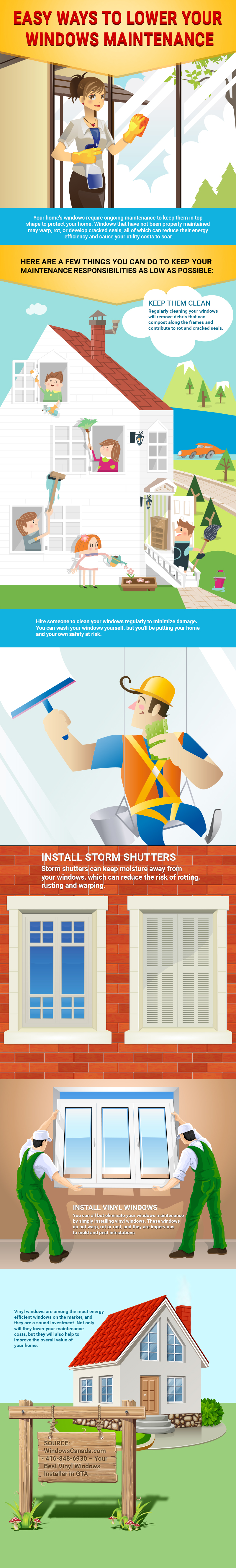Easy Ways to Lower Your Windows Maintenance - Canadian Choice Windows Infographic