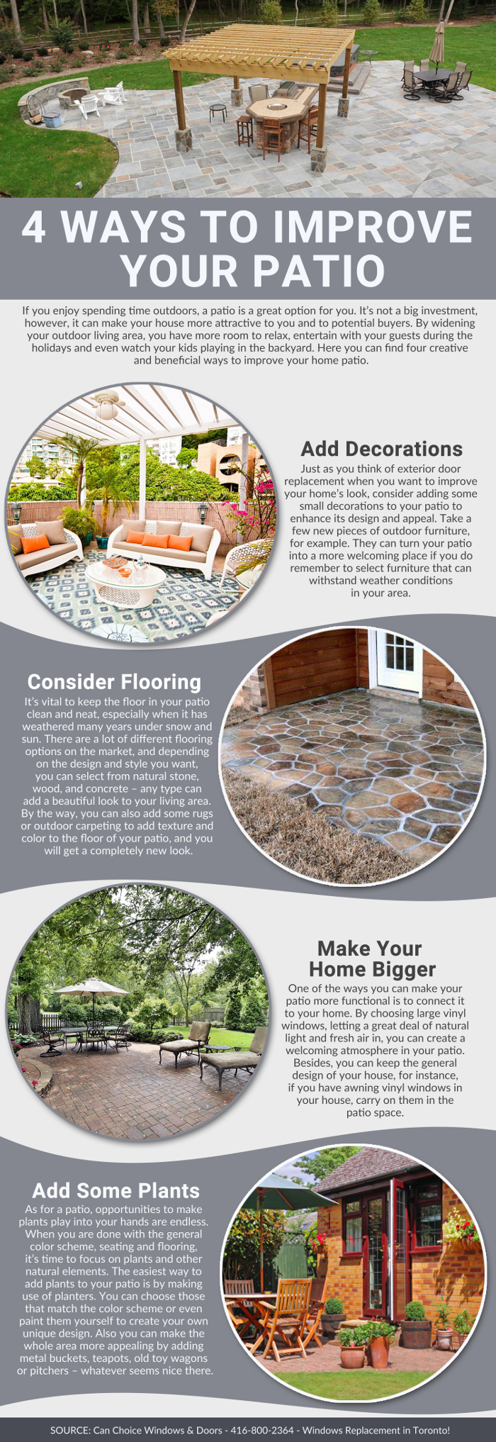 4 Ways To Improve Your Patio - Infographic