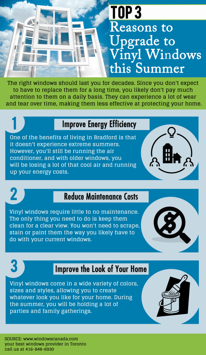 Top 3 Reasons to Upgrade to Vinyl Windows this Summer
